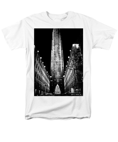 Christmas In New York City Men's T-Shirt  (Regular Fit) by Carol F Austin