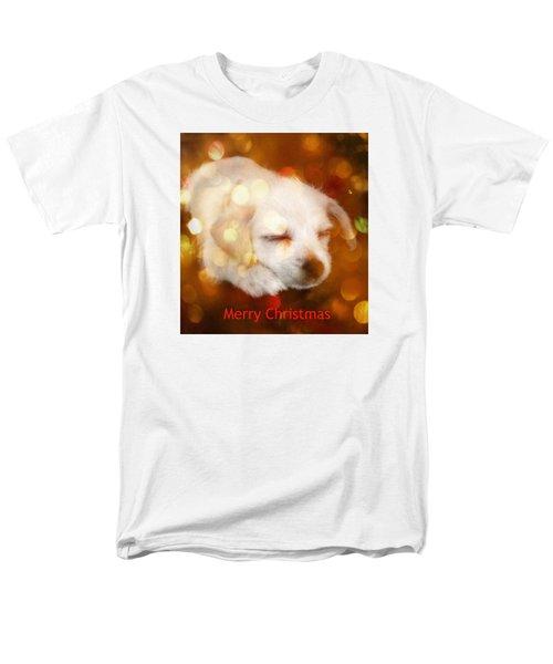Christmas Puppy Men's T-Shirt  (Regular Fit)