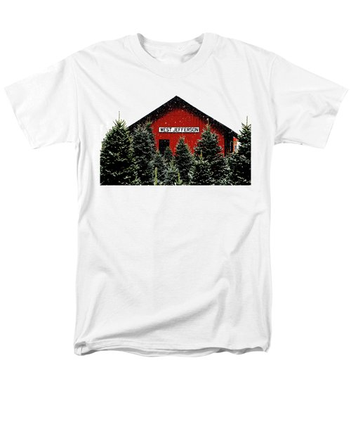 Christmas Town Men's T-Shirt  (Regular Fit) by Dale R Carlson