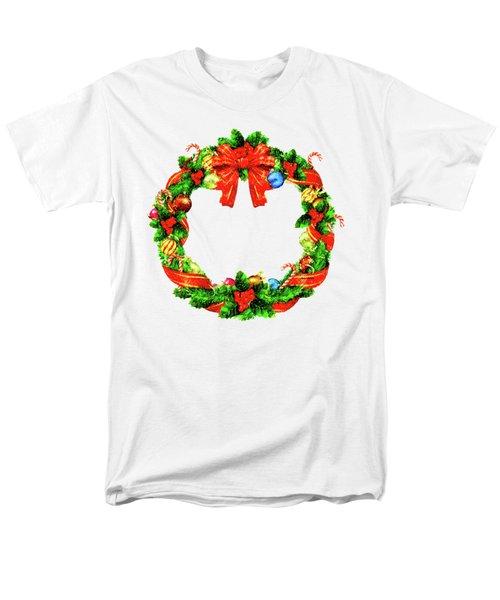 Christmas Wreath Men's T-Shirt  (Regular Fit) by Rafael Salazar