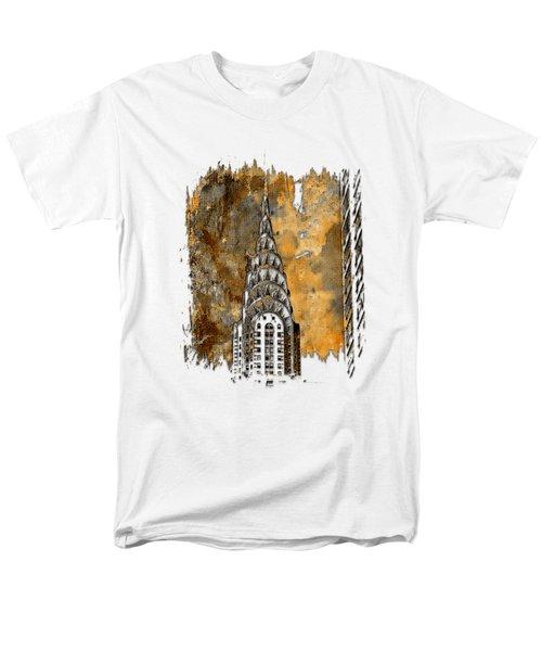 Chrysler Spire Earthy 3 Dimensional Men's T-Shirt  (Regular Fit)