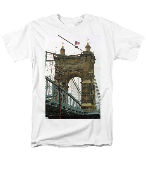 Cincinnati - Roebling Bridge 4 Men's T-Shirt  (Regular Fit) by Frank Romeo