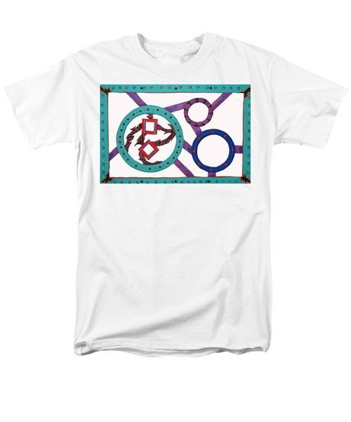 Men's T-Shirt  (Regular Fit) featuring the mixed media Circle Time by Robert Margetts