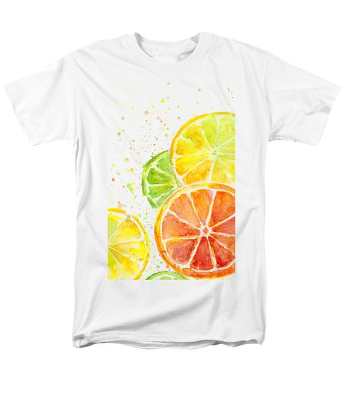 Citrus Fruit Watercolor Men's T-Shirt  (Regular Fit) by Olga Shvartsur