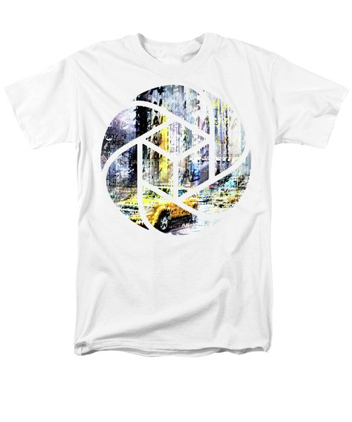 City-art Times Square Streetscene Men's T-Shirt  (Regular Fit) by Melanie Viola
