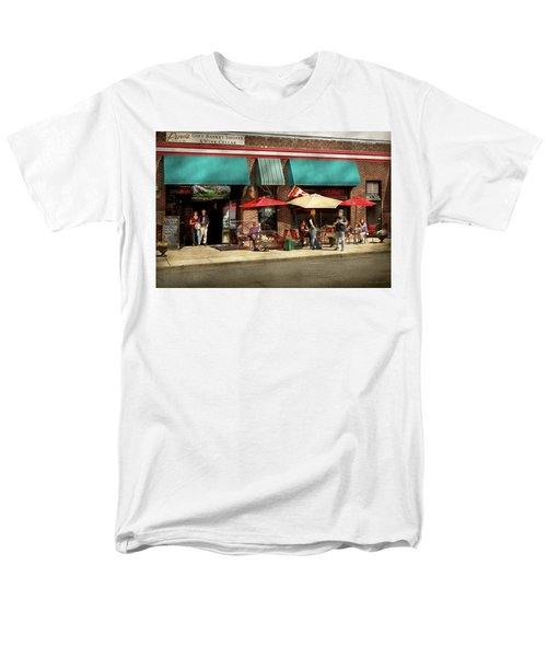 Men's T-Shirt  (Regular Fit) featuring the photograph City - Edison Nj - Pino's Basket Shop by Mike Savad
