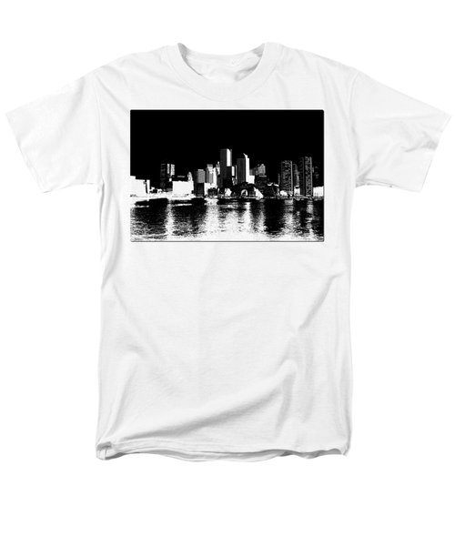 City Of Boston Skyline   Men's T-Shirt  (Regular Fit) by Enki Art