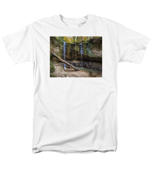 Men's T-Shirt  (Regular Fit) featuring the photograph Clark Creek Waterfall No. 1 by Andy Crawford