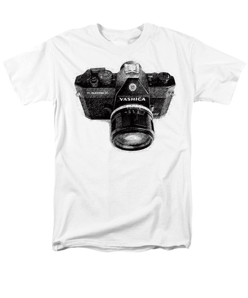 Men's T-Shirt  (Regular Fit) featuring the drawing Classic Yashica Slr Film Camera by Edward Fielding