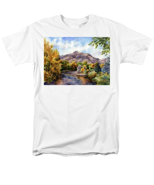 Men's T-Shirt  (Regular Fit) featuring the painting Clear Creek by Anne Gifford