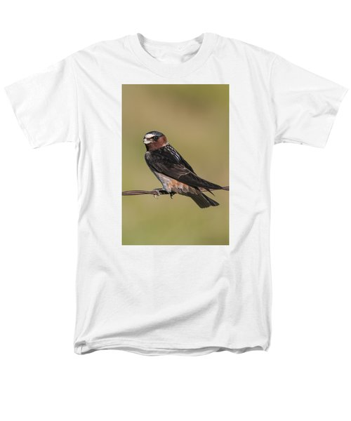 Men's T-Shirt  (Regular Fit) featuring the photograph Cliff Swallow by Gary Lengyel