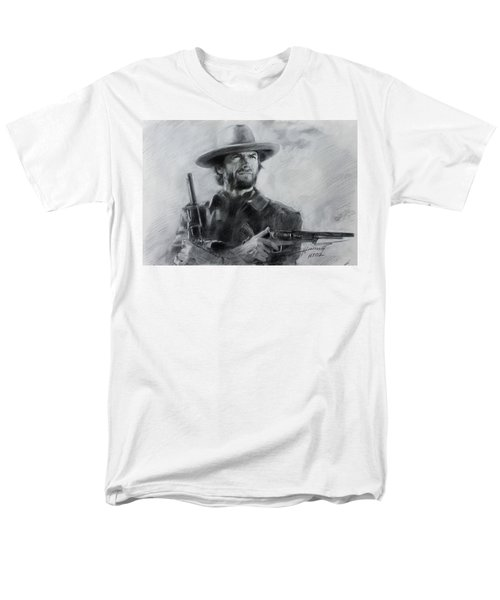 Men's T-Shirt  (Regular Fit) featuring the drawing Clint Eastwood by Viola El