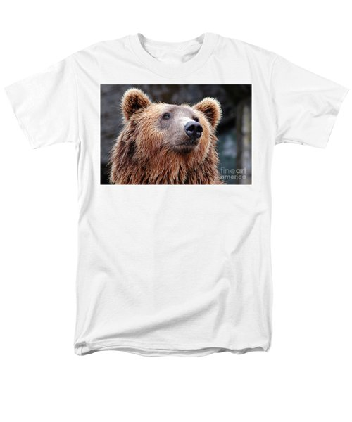Men's T-Shirt  (Regular Fit) featuring the photograph Close Up Bear by MGL Meiklejohn Graphics Licensing