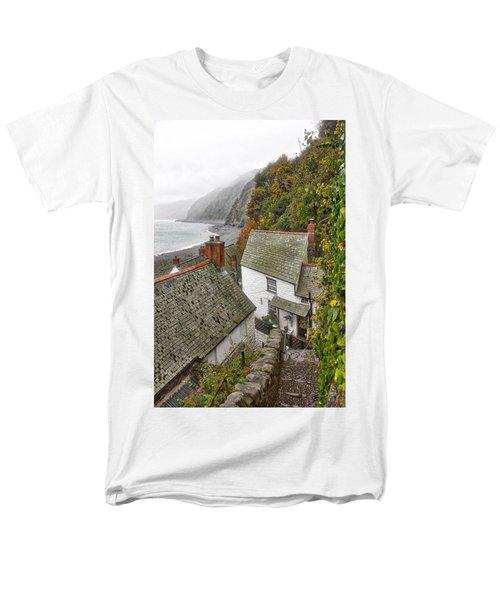 Clovelly Coastline Men's T-Shirt  (Regular Fit) by RKAB Works