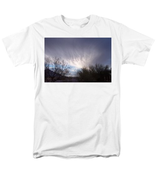Men's T-Shirt  (Regular Fit) featuring the painting Clouds In Desert by Mordecai Colodner