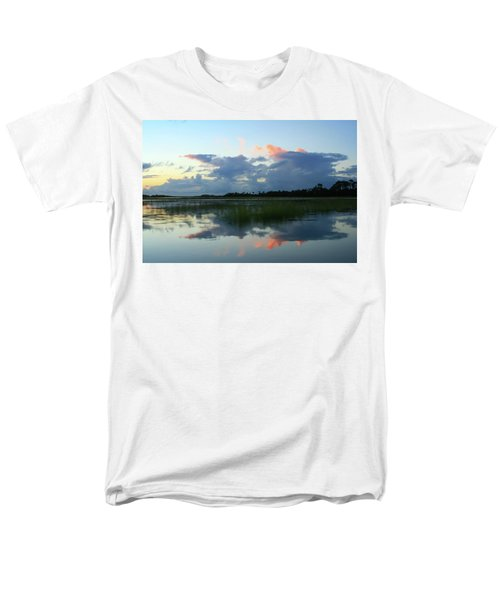 Men's T-Shirt  (Regular Fit) featuring the photograph Clouds Over Marsh by Patricia Schaefer