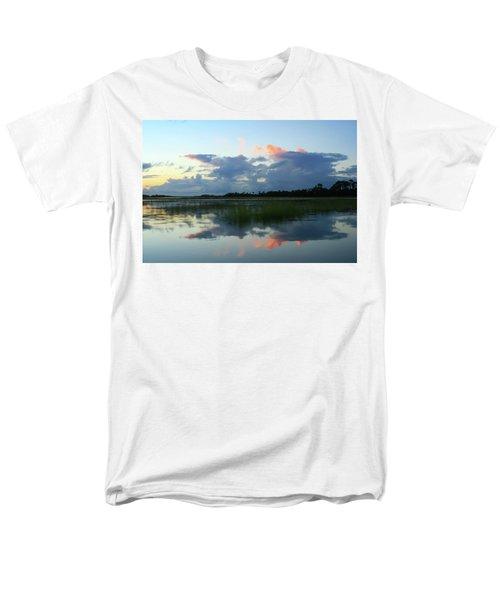 Clouds Over Marsh Men's T-Shirt  (Regular Fit) by Patricia Schaefer