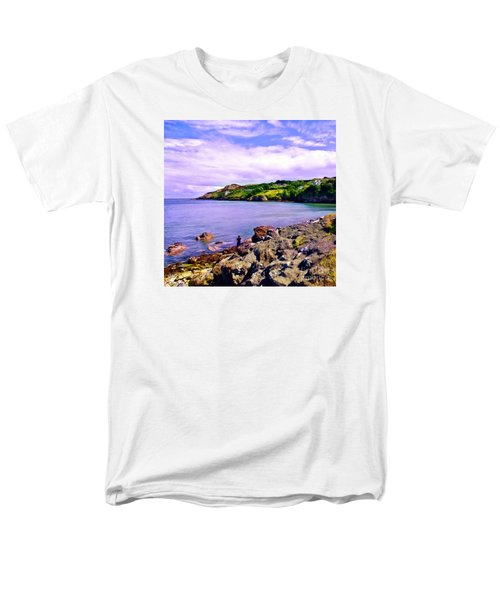 Rocky Coast At Howth Men's T-Shirt  (Regular Fit) by Judi Bagwell