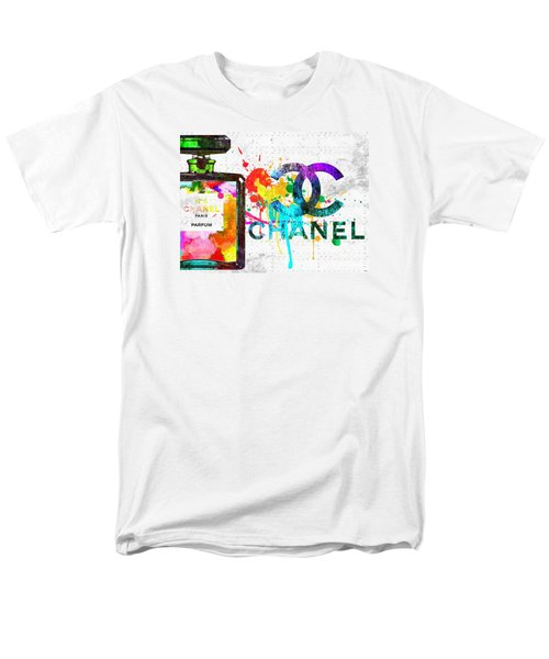 Coco Chanel No. 5 Grunge Men's T-Shirt  (Regular Fit) by Daniel Janda