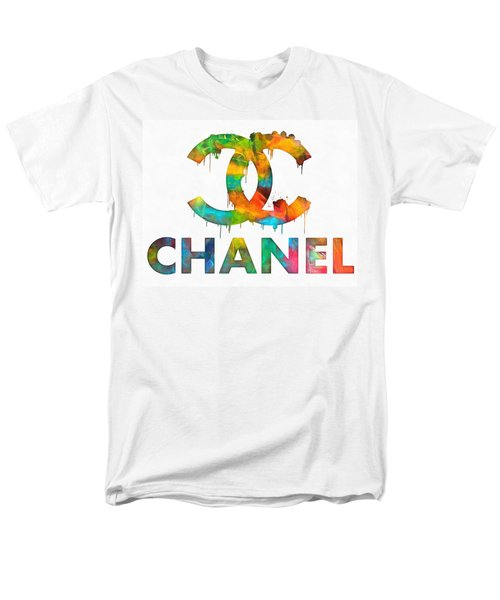 Coco Chanel Paint Splatter Color Men's T-Shirt  (Regular Fit) by Dan Sproul