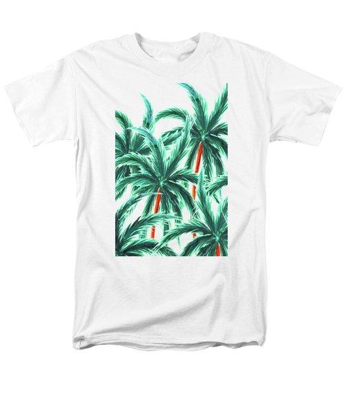 Coconut Trees Men's T-Shirt  (Regular Fit) by Uma Gokhale