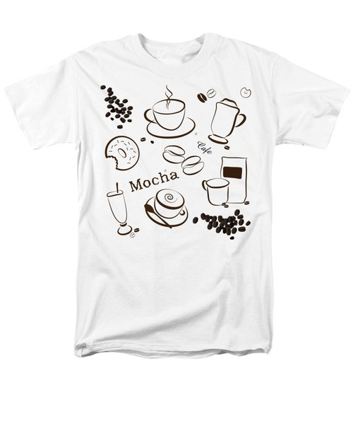 Coffee And Cafe Background Men's T-Shirt  (Regular Fit) by Serena King