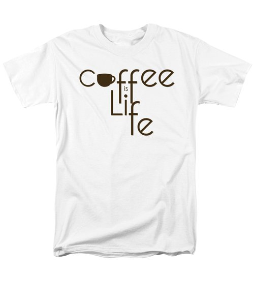 Men's T-Shirt  (Regular Fit) featuring the digital art Coffee Is Life #3 by Nola Lee Kelsey