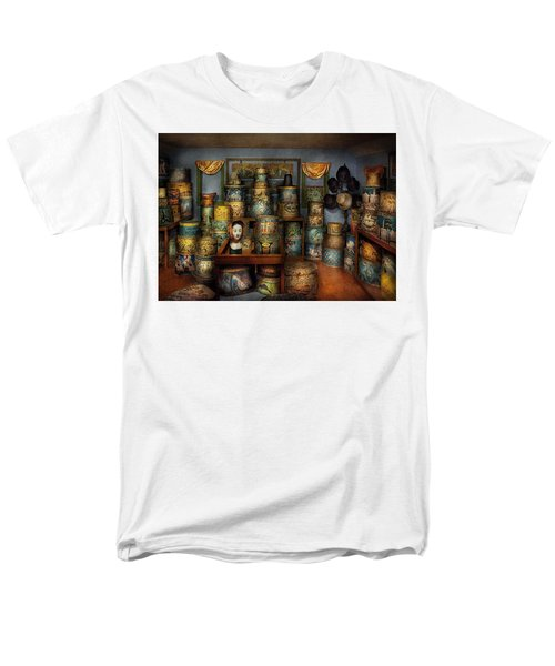 Collector - Hats - The hat room T-Shirt by Mike Savad