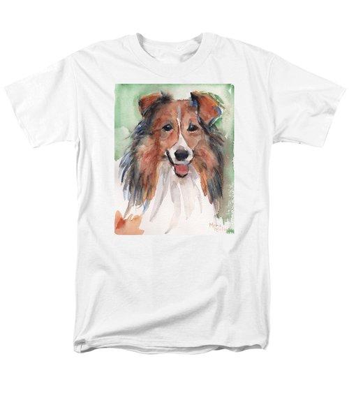 Collie, Shetland Sheepdog Men's T-Shirt  (Regular Fit) by Maria's Watercolor