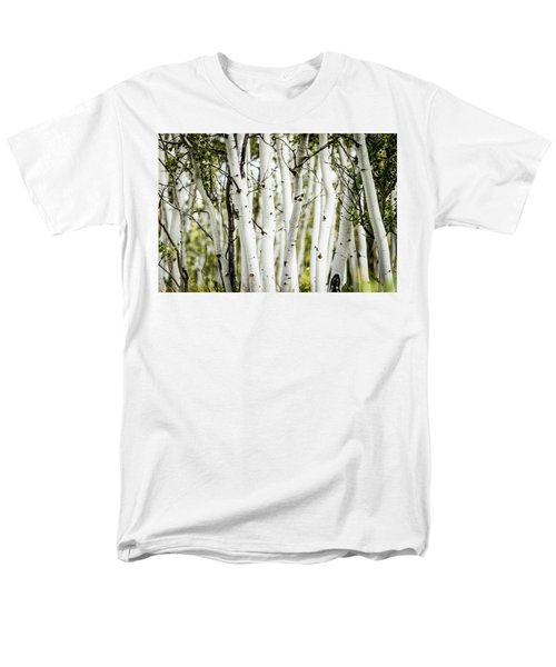Men's T-Shirt  (Regular Fit) featuring the photograph Colorado Aspens by Dawn Romine
