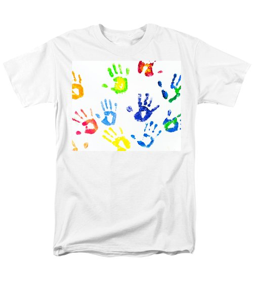 Men's T-Shirt  (Regular Fit) featuring the photograph Colorful Arm Prints Abstract by Jenny Rainbow