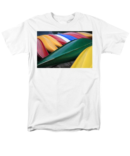 Colorful Canoes Men's T-Shirt  (Regular Fit) by Catherine Alfidi