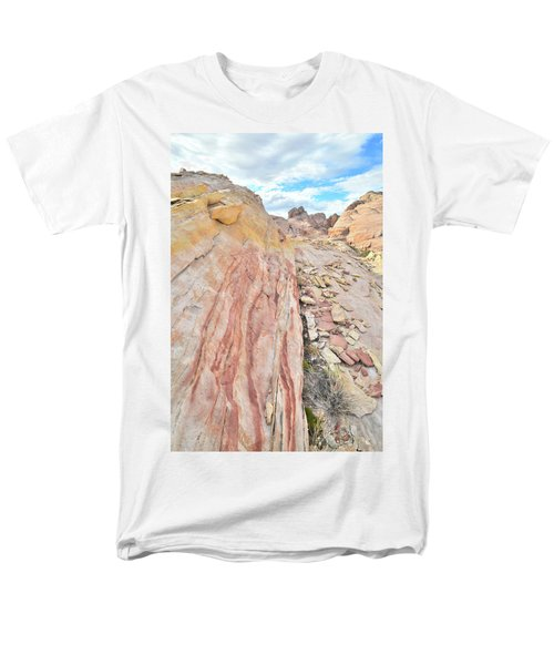 Colorful Crest In Valley Of Fire Men's T-Shirt  (Regular Fit) by Ray Mathis