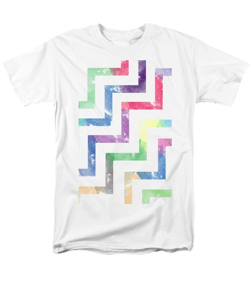 Colorful Geometric Patterns Vi Men's T-Shirt  (Regular Fit) by Amir Faysal