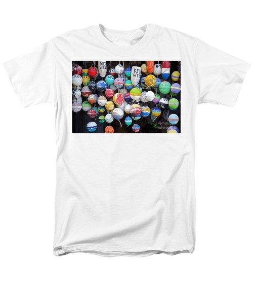 Colorful Key West Lobster Buoys Men's T-Shirt  (Regular Fit)