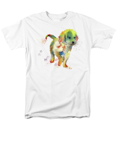 Colorful Puppy Watercolor - Little Friend Men's T-Shirt  (Regular Fit) by Melly Terpening