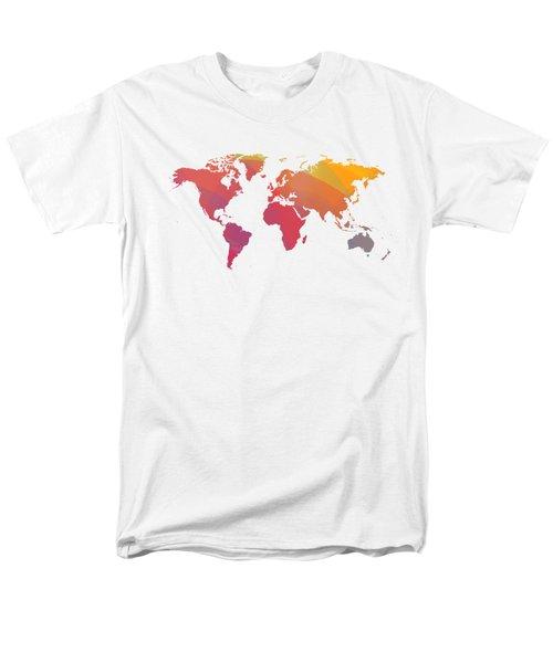 Colorist Map Of The World Men's T-Shirt  (Regular Fit) by Alberto RuiZ