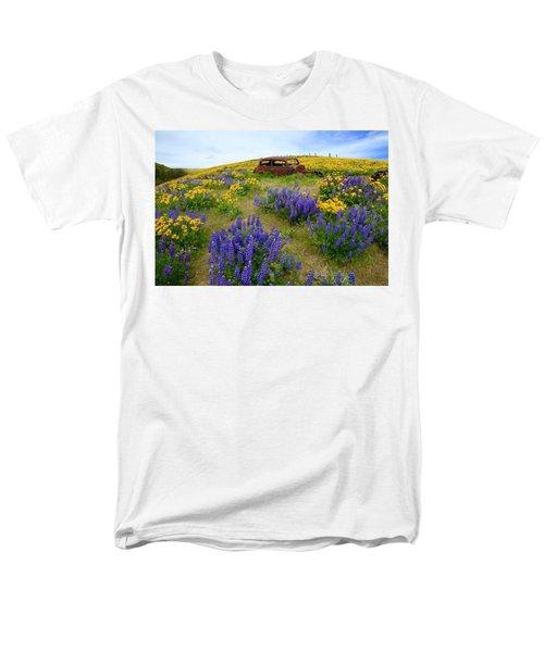 Columbia Hills Wildflowers Men's T-Shirt  (Regular Fit) by Lynn Hopwood