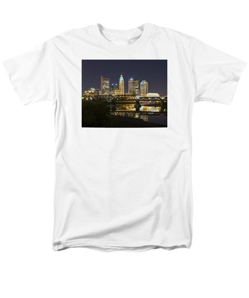Men's T-Shirt  (Regular Fit) featuring the photograph Columbus Skyline 2 by Alan Raasch