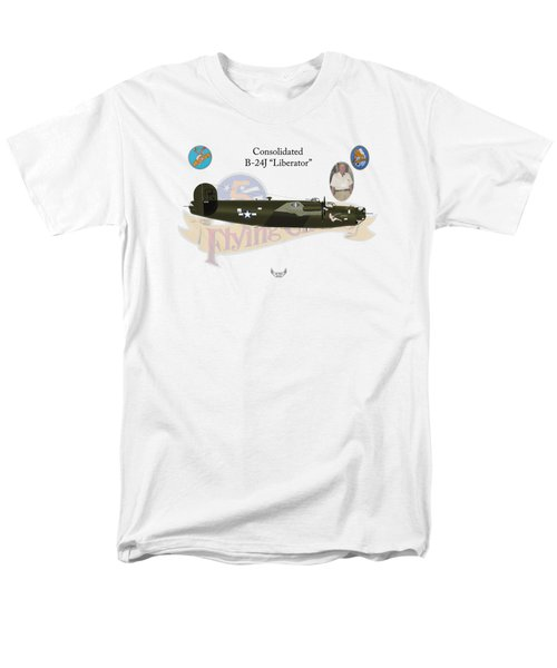 Consolidated, B-24j, Liberator, Rough Night Men's T-Shirt  (Regular Fit) by Arthur Eggers