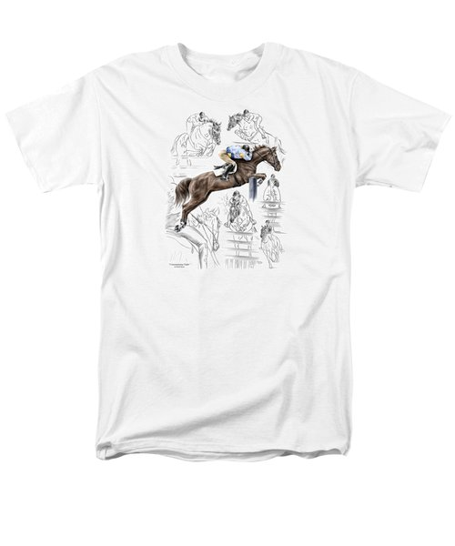 Contemplating Flight - Horse Jumper Print Color Tinted Men's T-Shirt  (Regular Fit) by Kelli Swan