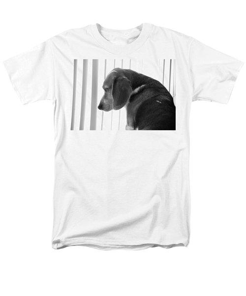 Contemplative Beagle Men's T-Shirt  (Regular Fit) by Jennifer Ancker