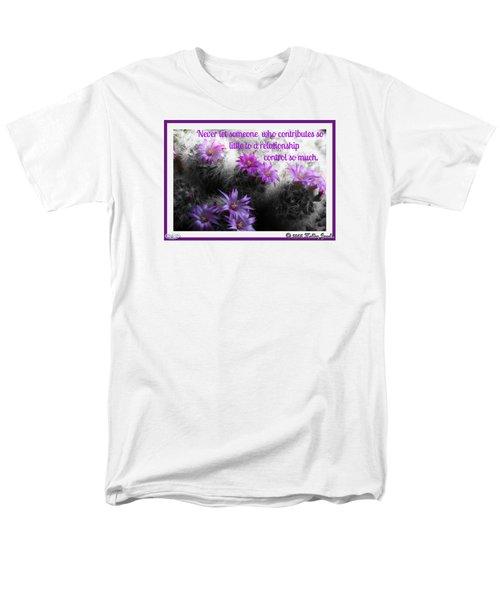 Contributes So Little Men's T-Shirt  (Regular Fit)