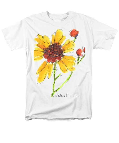 Coreopsis By Kathleen Mcelwaine Men's T-Shirt  (Regular Fit) by Kathleen McElwaine