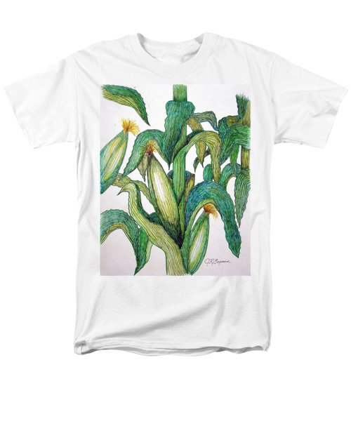 Corn And Stalk Men's T-Shirt  (Regular Fit) by J R Seymour