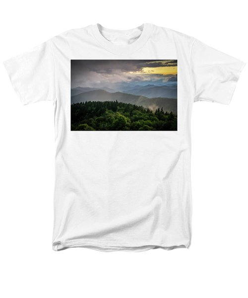 Cowee Mountain Sunset Men's T-Shirt  (Regular Fit) by Serge Skiba
