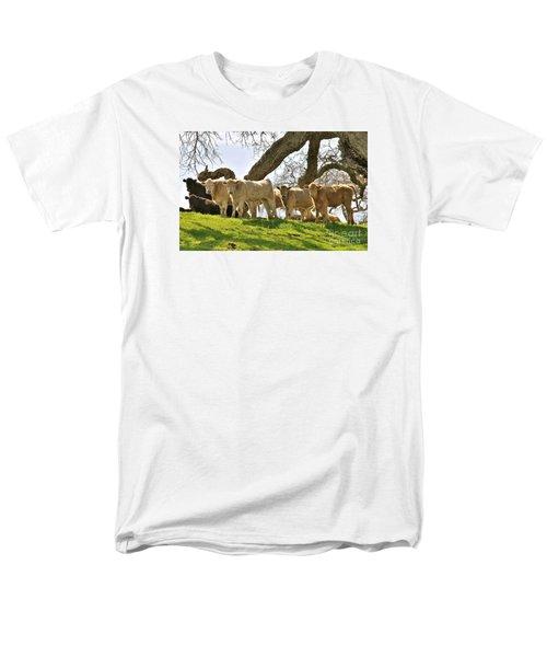 Cows Under Oak #2 Men's T-Shirt  (Regular Fit) by Amy Fearn