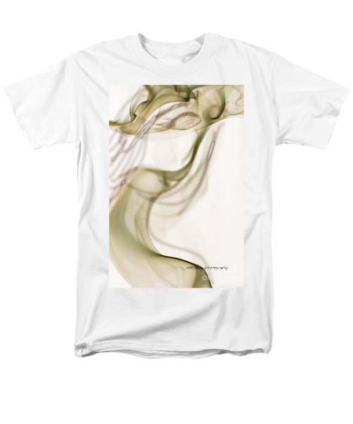 Coy Lady In Hat Swirls Men's T-Shirt  (Regular Fit) by Vicki Ferrari