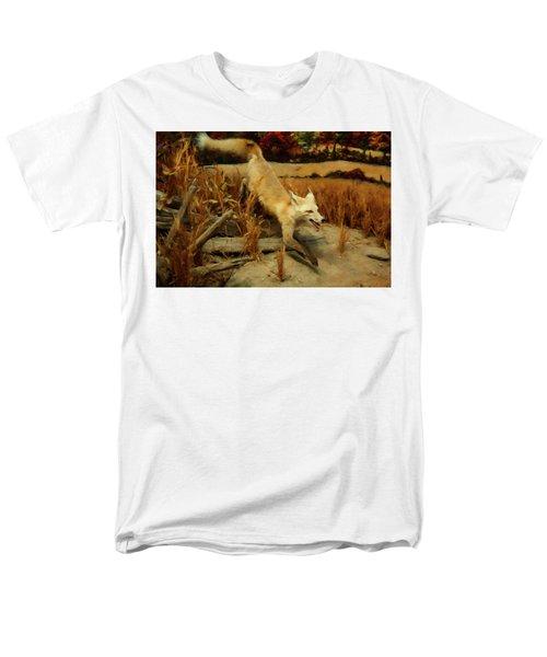 Men's T-Shirt  (Regular Fit) featuring the digital art Coyote  by Chris Flees