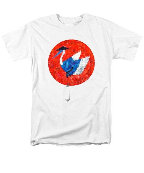 Crane Men's T-Shirt  (Regular Fit) by Daryna Skulska